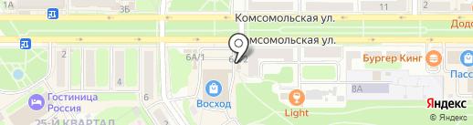 Деревенское подворье на карте Новомосковска