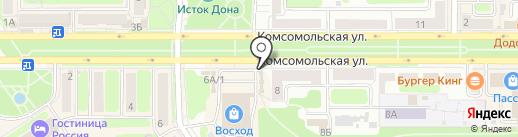 Салон цветов на карте Новомосковска