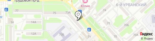 Машенька на карте Новомосковска