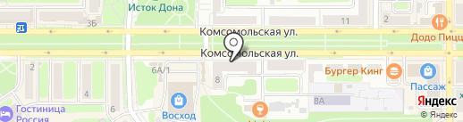 Новомосковская правда на карте Новомосковска