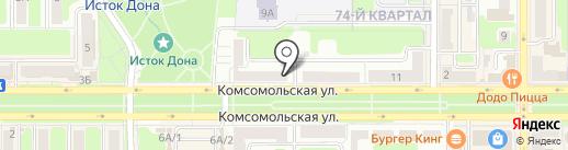 Apriori на карте Новомосковска