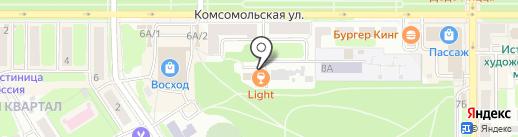 Инвойс на карте Новомосковска