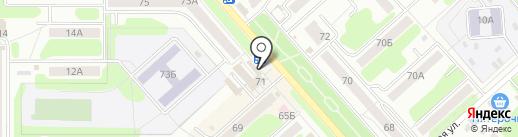 Магазин женской одежды на карте Новомосковска