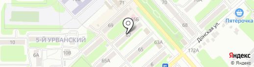Новомосковская библиотечная система на карте Новомосковска