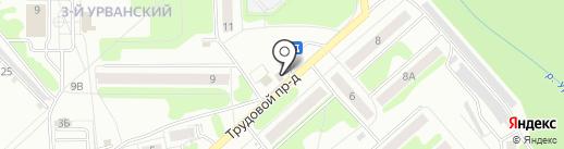 Быстрёнок на карте Новомосковска