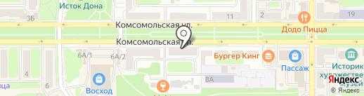 Натали на карте Новомосковска