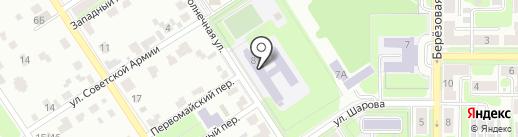 Средняя общеобразовательная школа №15 на карте Новомосковска