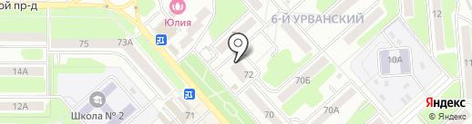 Ермолино на карте Новомосковска
