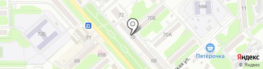 Пункт полиции Урванского микрорайона на карте Новомосковска