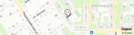 Аполлон на карте Новомосковска