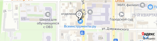Меганом на карте Новомосковска