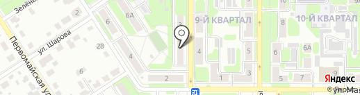 Просвещение на карте Новомосковска