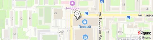 Перекресток на карте Новомосковска