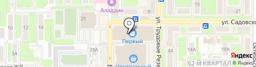 Флоренция на карте Новомосковска