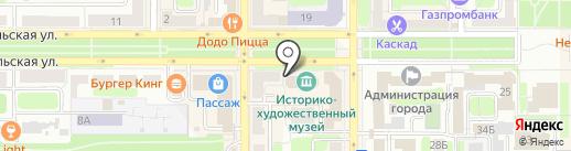 Новомосковский историко-художественный музей на карте Новомосковска
