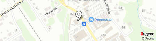 Бомба на карте Новомосковска