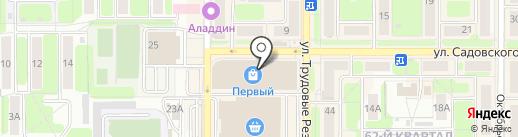 Кораблик на карте Новомосковска