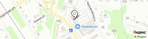 Магазин автоэмалей на карте Новомосковска