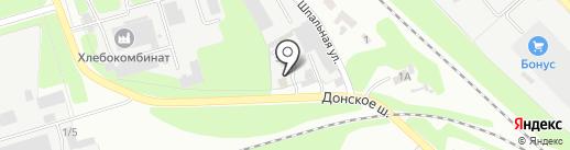 Русская баня на дровах на карте Новомосковска