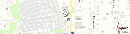 Магазин автозапчастей для ГАЗель на карте Новомосковска