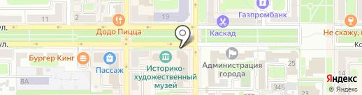 Tasty shop на карте Новомосковска