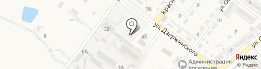 Аринга на карте Ахтырского