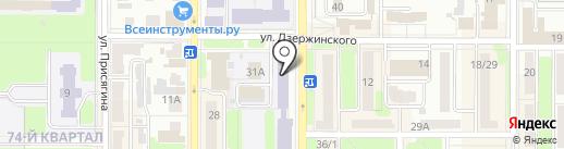 Окна Гермес на карте Новомосковска