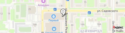 Клевер на карте Новомосковска