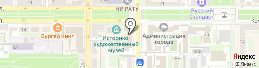 Магазин кондитерских изделий на карте Новомосковска