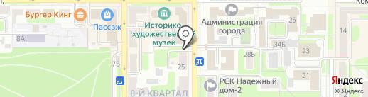 Черный кот на карте Новомосковска