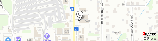 Магазин обоев и плитки на карте Новомосковска