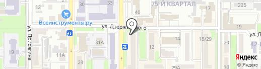 Велюр на карте Новомосковска