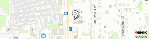 Рамс на карте Новомосковска