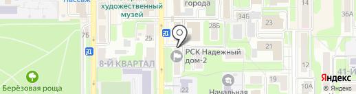 ЖЭУ №5 на карте Новомосковска