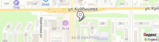 Форвард на карте Новомосковска