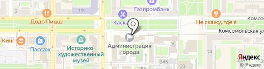 Комитет ЗАГС г. Новомосковска на карте Новомосковска