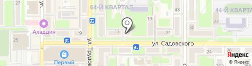 Магазин спортивной одежды на карте Новомосковска
