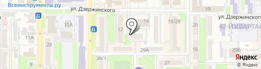 Красное & Белое на карте Новомосковска