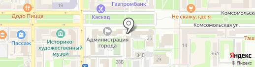 Лолита на карте Новомосковска