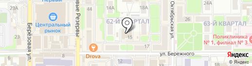 Территориальный центр социальной помощи семье и детям Новомосковского района на карте Новомосковска