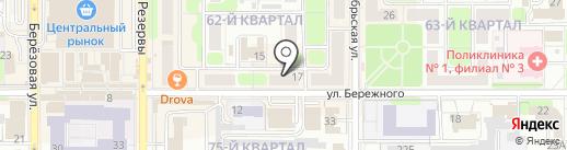 АКВА МАСТЕР на карте Новомосковска