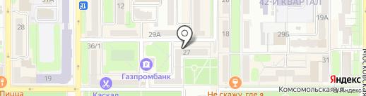 Дистанция на карте Новомосковска