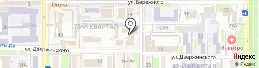 Новомосковские бани на карте Новомосковска