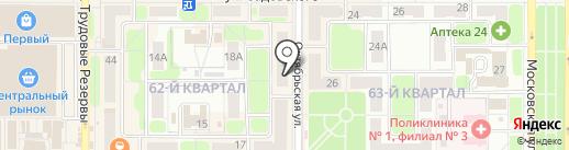 Новомосковская библиотечная система, МУК на карте Новомосковска