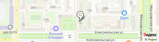 Глори на карте Новомосковска