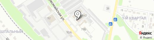 Милан на карте Новомосковска