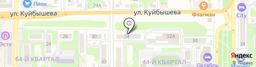 Радуга на карте Новомосковска
