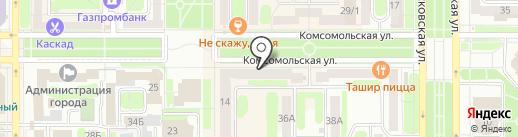 Богемия на карте Новомосковска