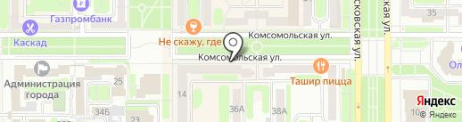 Пельменная на карте Новомосковска