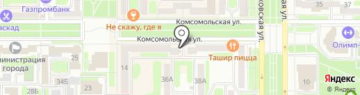 Свежий хлеб на карте Новомосковска